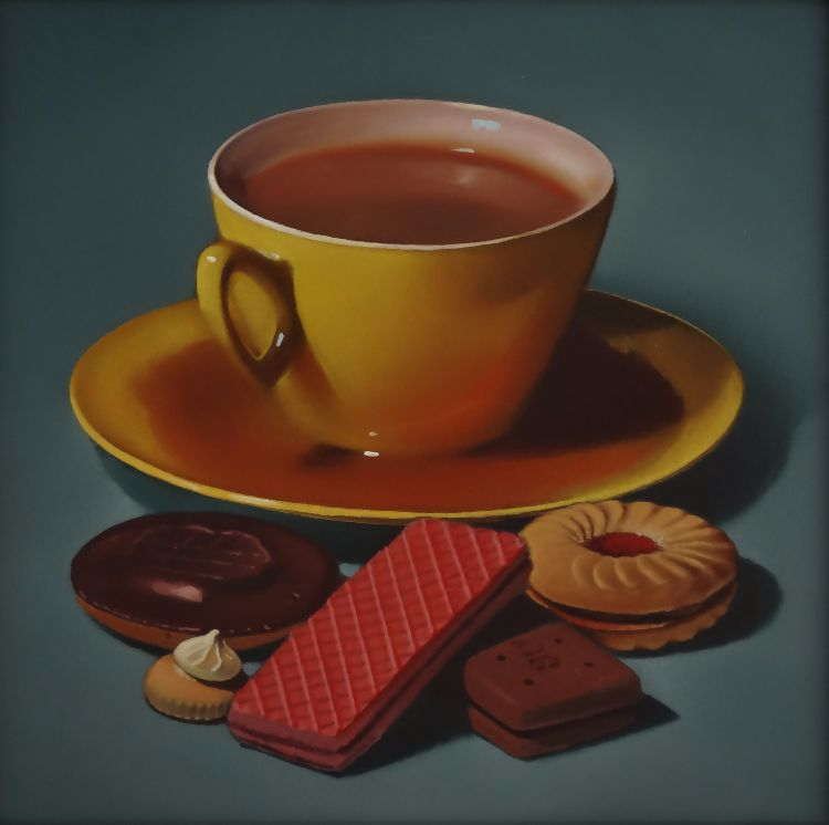 yellow teacups and biscuits (sold)