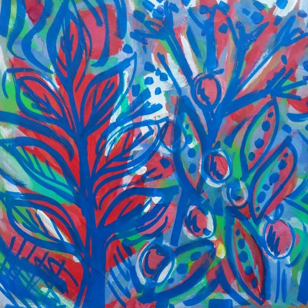 Blue Seedpods