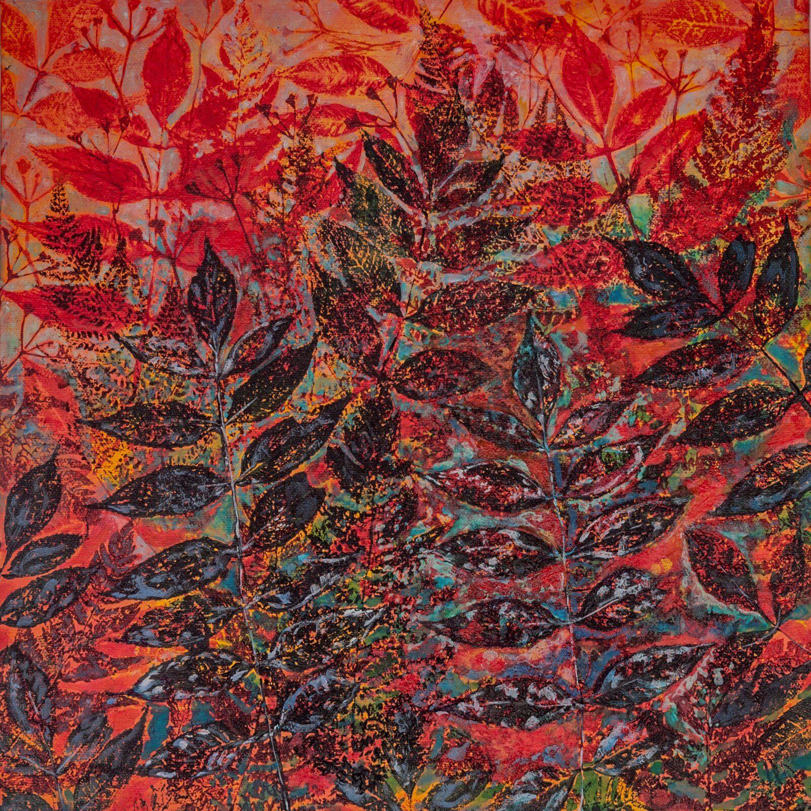 Red Elder and Ferns Giclee