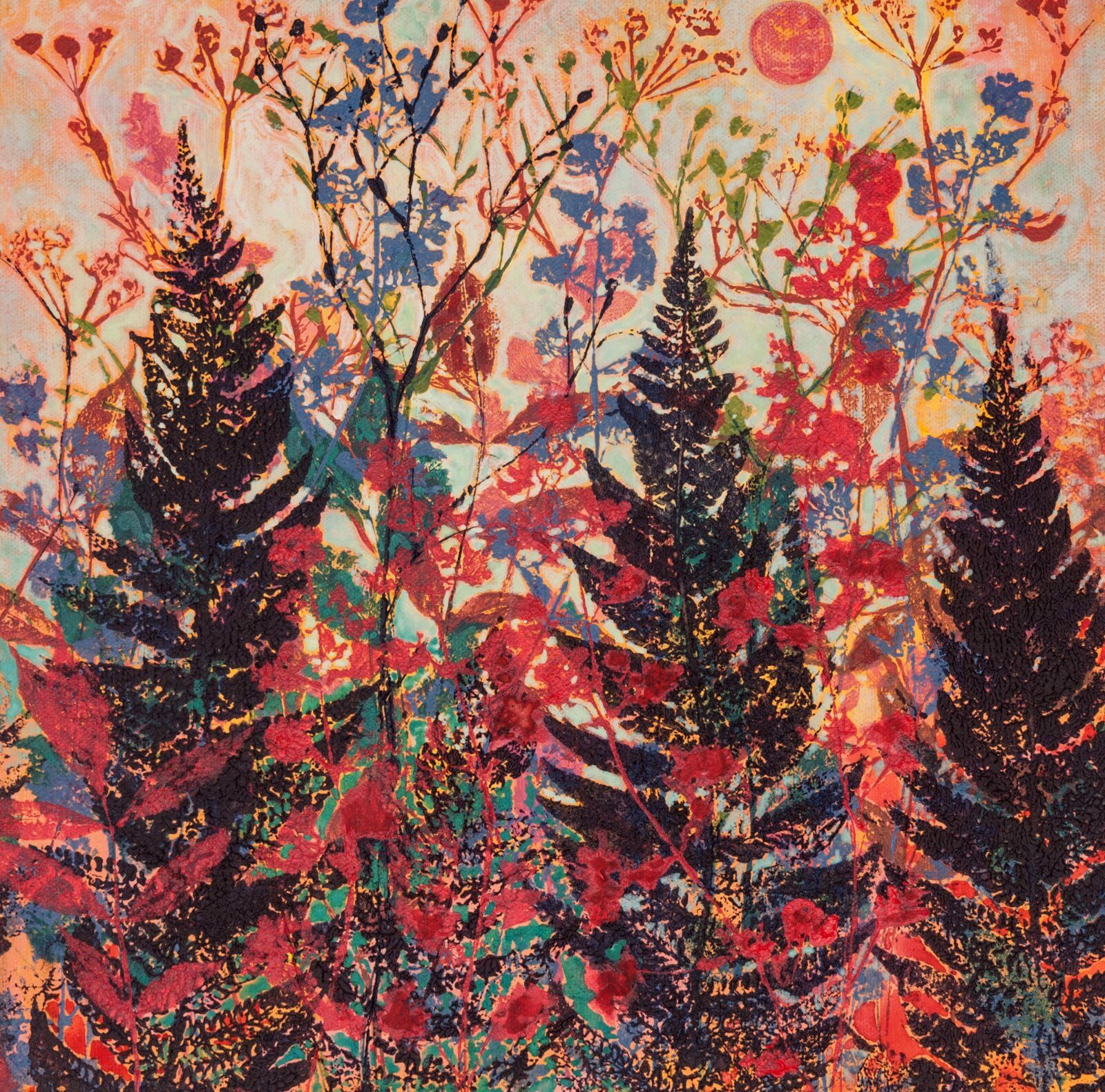 Ferns and Pink Moon Giclee