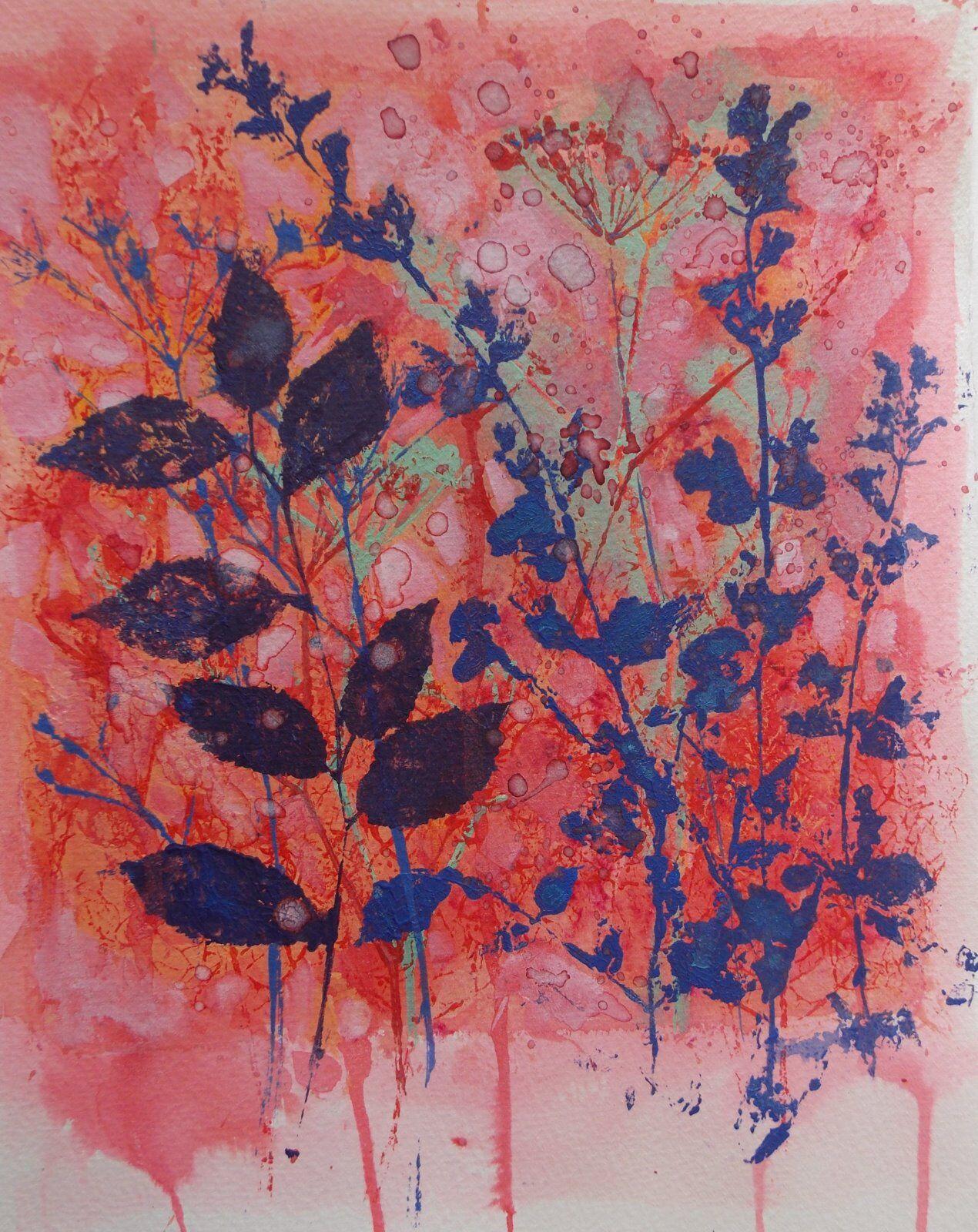 Blue Catnip and Elder Leaves
