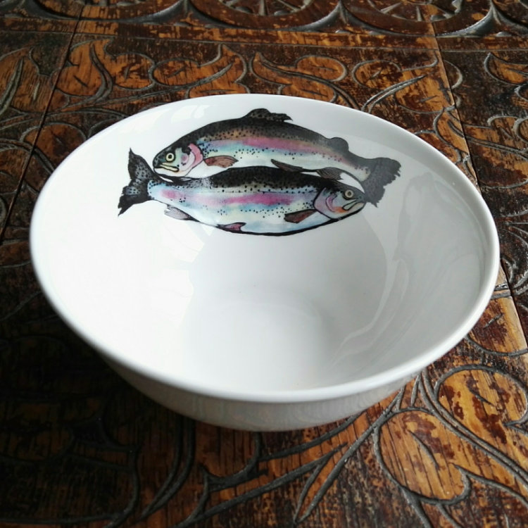 Trout dipping bowl
