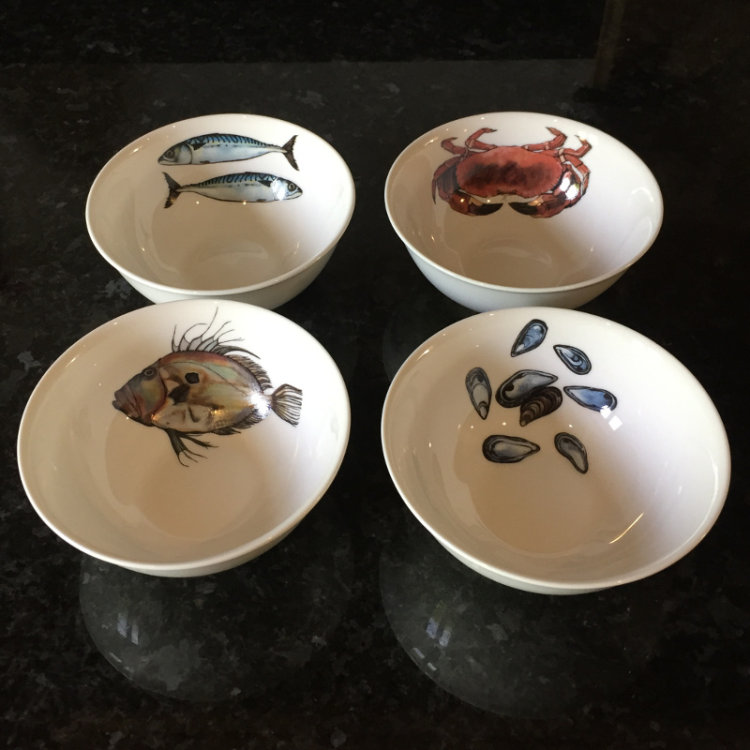 Dipping Bowls set of 4 (Fish)