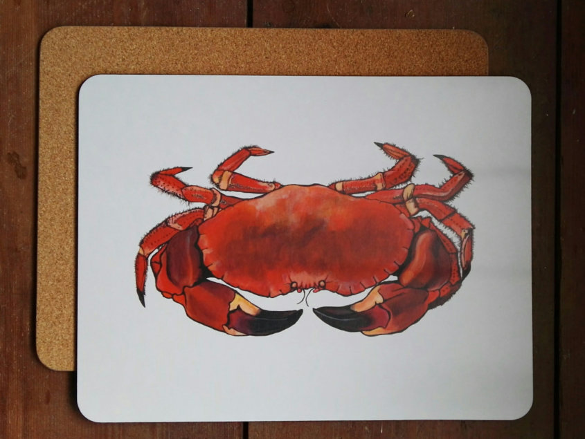 Crab large placemat/serving mat