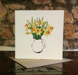 Daffodils Greetings Card