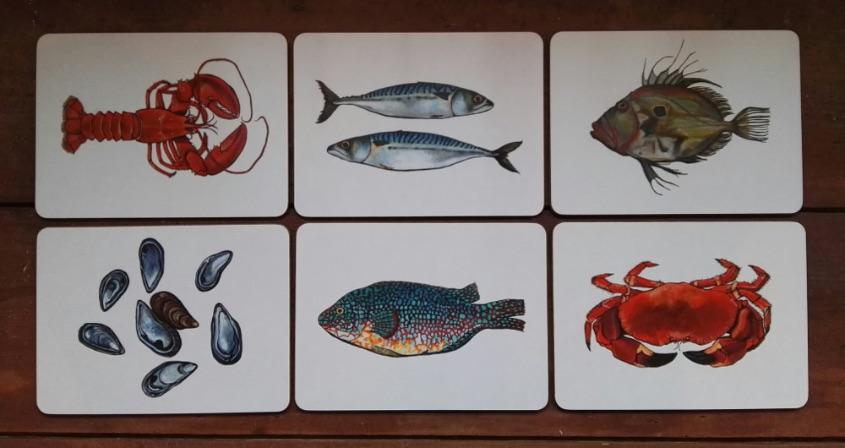 Fish placemat set