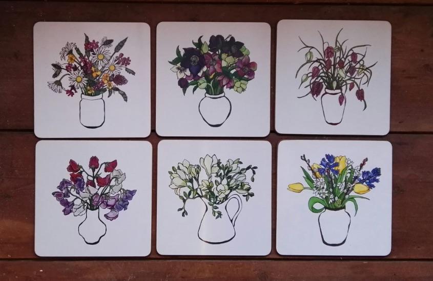 Floral placemat set