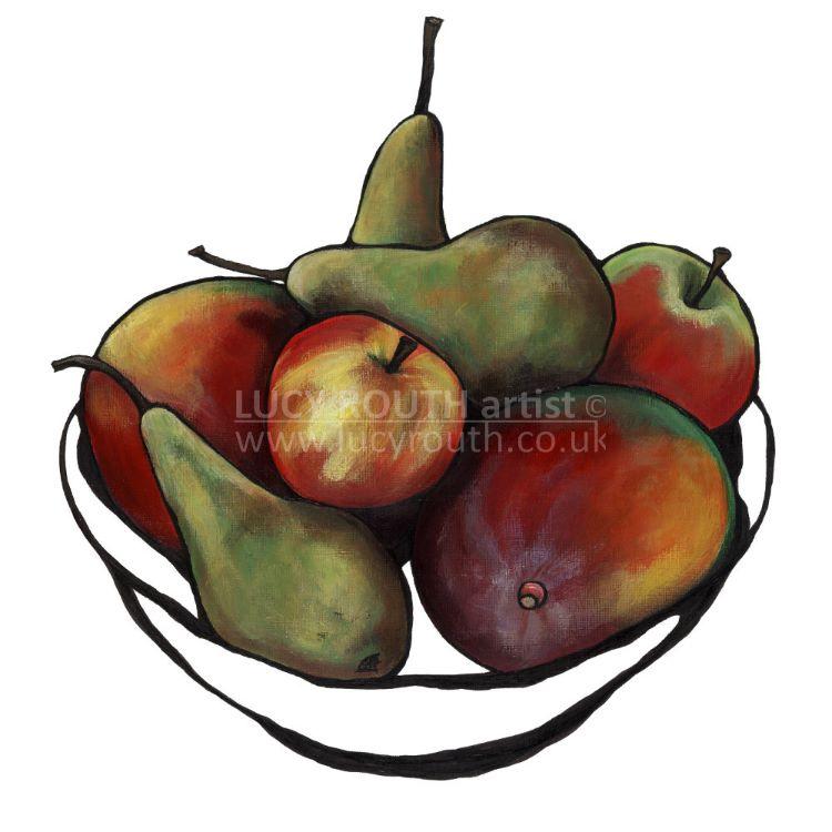 Fruit Bowl with Mangoes
