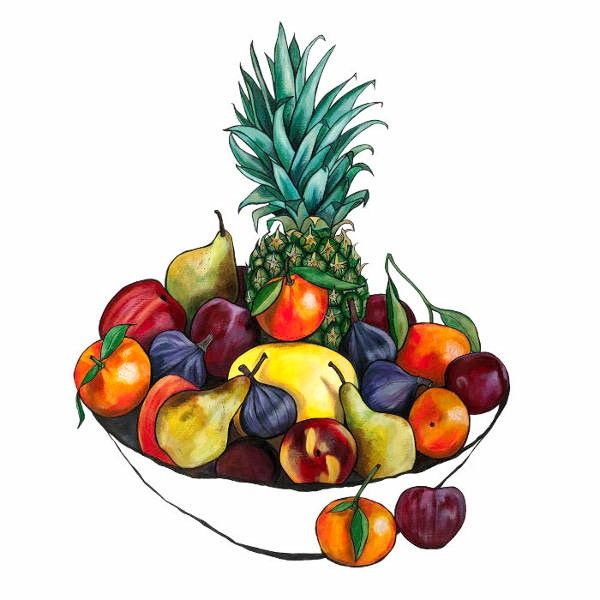 Fruit Bowl with Pineapple