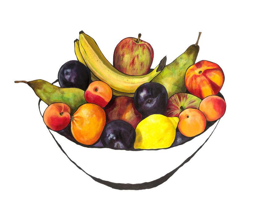 Fruit bowl with bananas