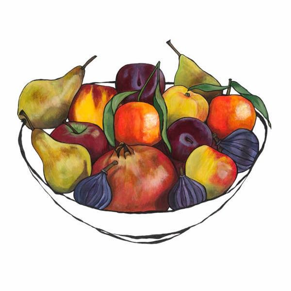 Fruit Bowl with Pomegranate