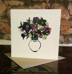 Hellebores Greetings Card