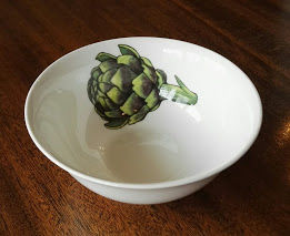 Artichoke dipping bowl