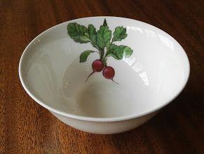 Radish dipping bowl