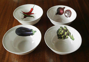 Dipping Bowls set of 4 (Vegetables)