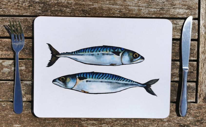 Mackerel placemat OUT OF STOCK