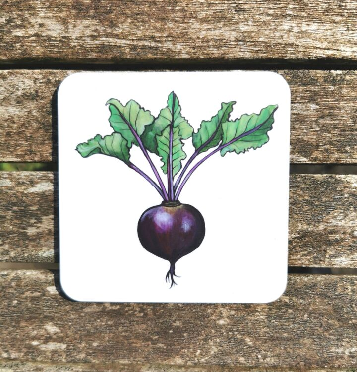 Beetroot Coaster