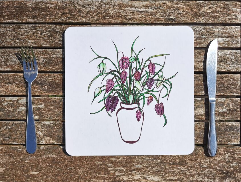 Snakes head fritillary placemat