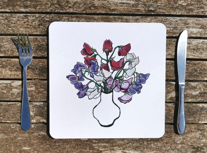 Sweet peas placemat