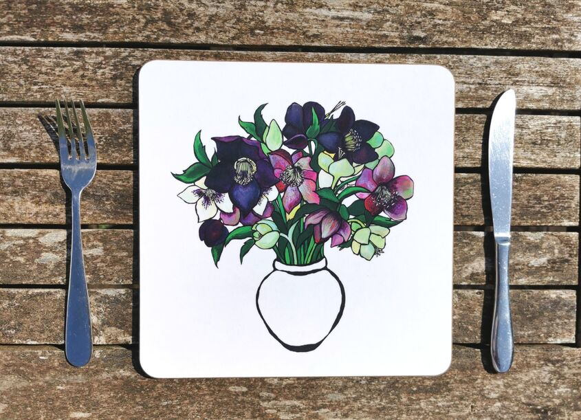 Helebores placemat