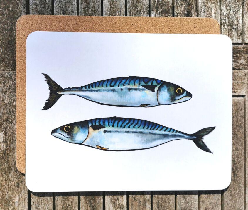 Mackerel large placemat/serving mat
