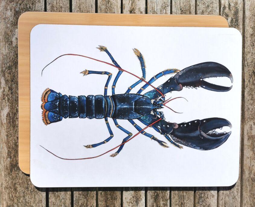 Blue Lobster Chopping Board