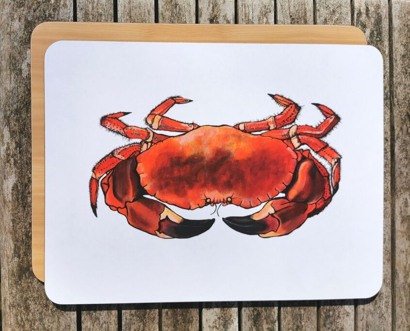 Crab chopping board