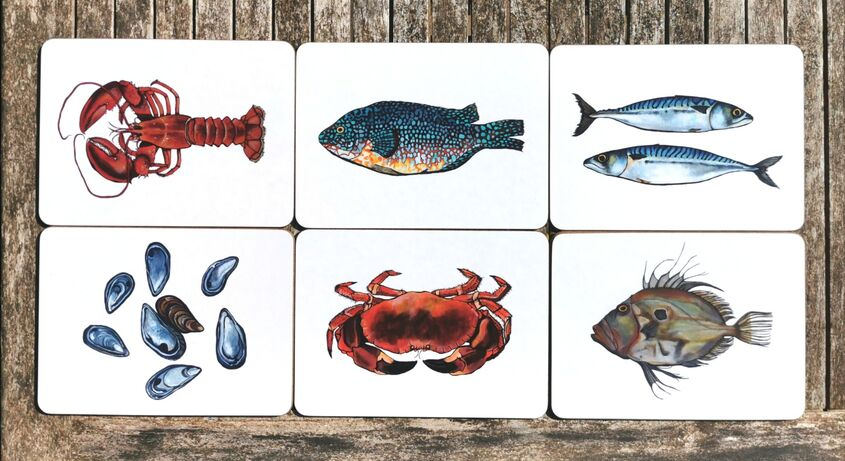 OUT OF STOCK - Fish placemat set