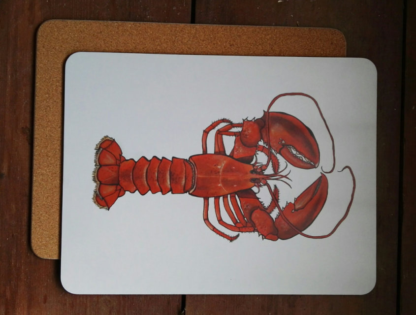Lobster large placemat/serving mat