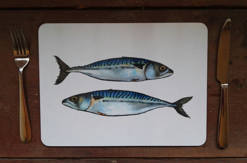 Mackerel placemat