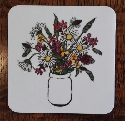 Meadow flowers coaster