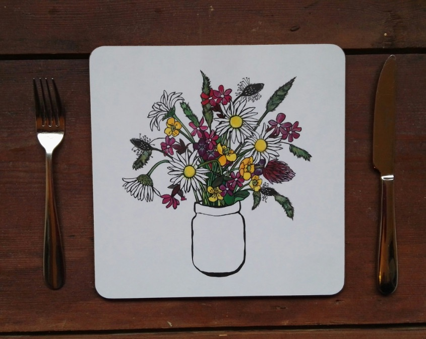 Meadow flowers placemat