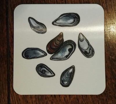 Mussel shells coaster