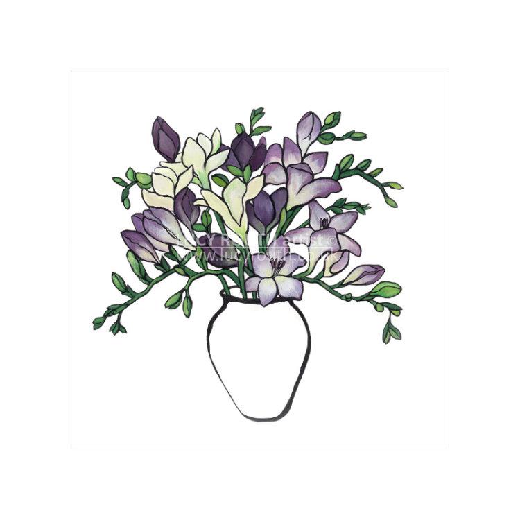 Purple Freesias