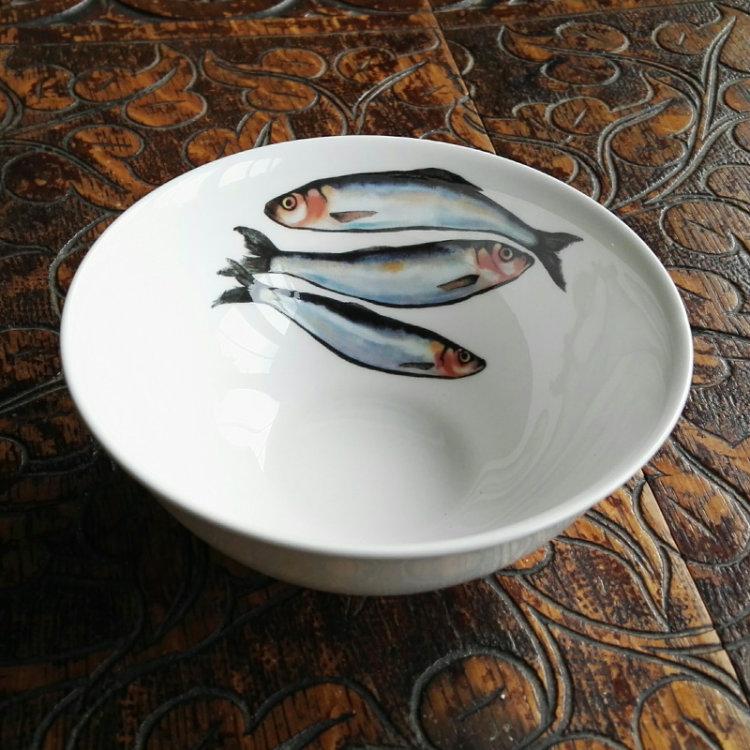Sardines dipping bowl