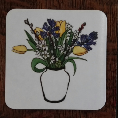 Spring flowers coaster