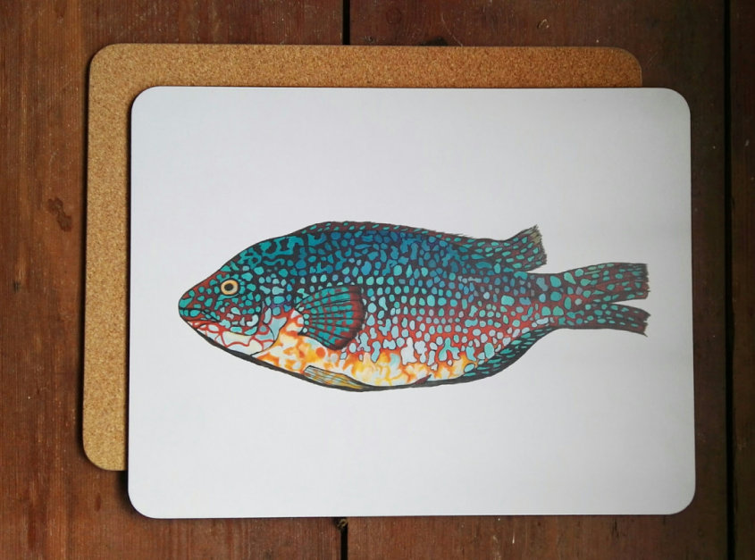 Wrasse large placemat/serving mat