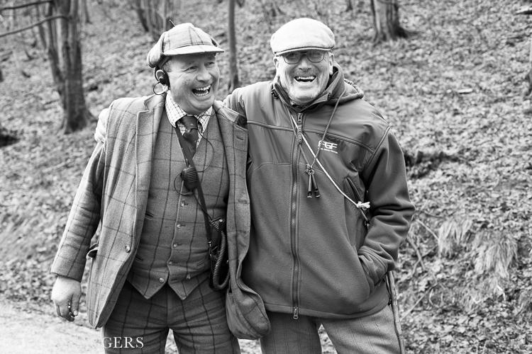 Bob and Pete, Duncombe Park, January 2014