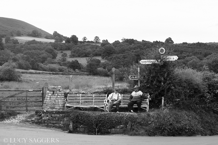 Edward and Cyril in their usual spot, Hawnby, July 2014