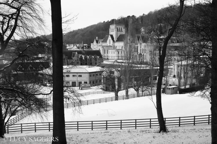 Ampleforth Abbey in snow, February 2015