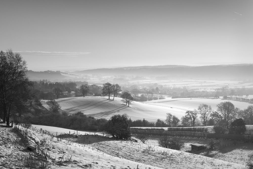 Ampleforth valley in snow