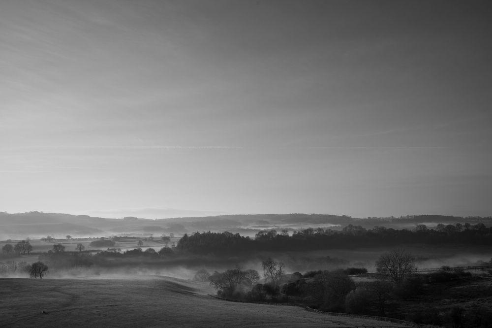Misty December morning towards Yearsley, 2018