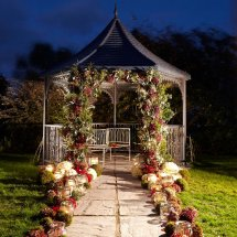 romantic outdoor twilight setting