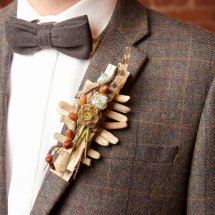 rustic woodland buttonhole