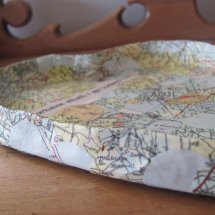 vintage map heart