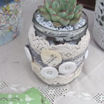 upcycled jar succulent