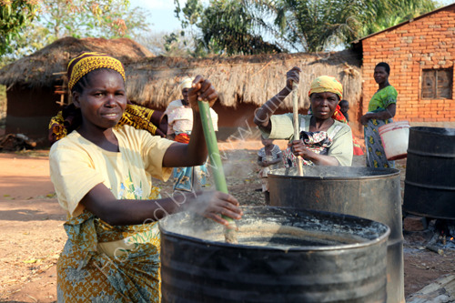 Making pombe (beer)