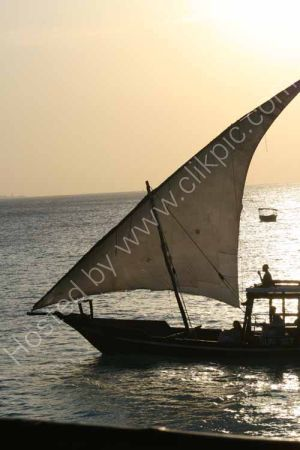 Dhow at sunset, Nungwi