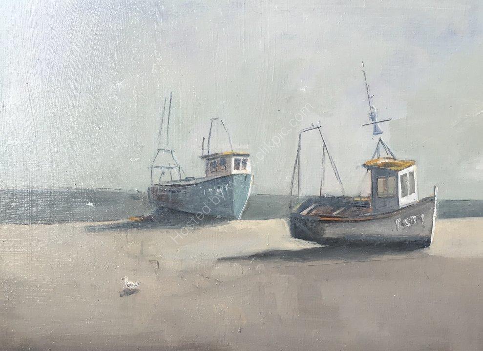 Boats on Aldeburgh Beach, Suffolk