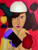 Magician in the Kitchen, oob, 30x24in. Unframed.